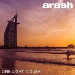 متن آهنگ یک شب در دبی آرش
